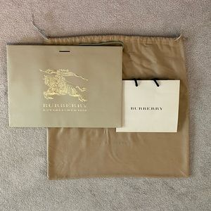 Burberry dust bag and shopping bags